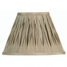 Sand Pinched Pleat Fabric Lamp Shade 20 inch OAKS601/20SN - Oaks Lighting